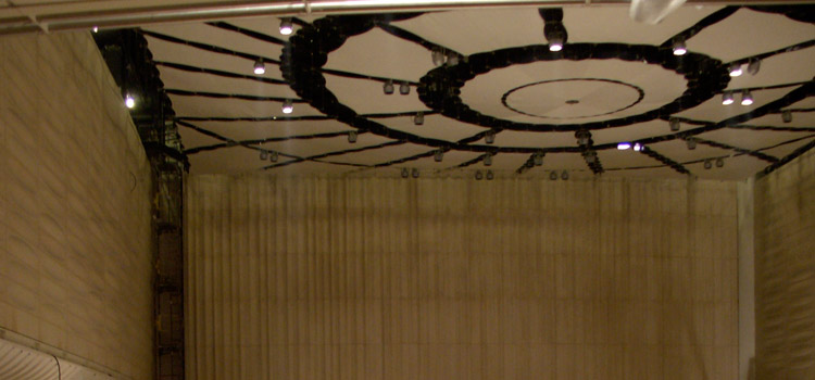 Fabric ceiling in Concert Hall